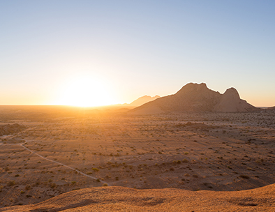 Sunrise over Damaraland