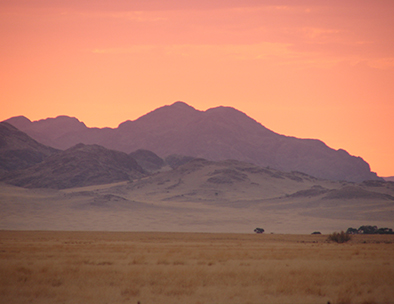 Damaraland is well known for its beautiful sunsets