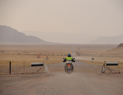 Explore Namibia on the back of a motorcycle