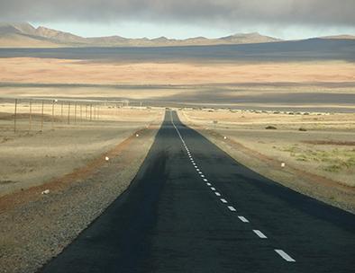 Long roads of Damaraland
