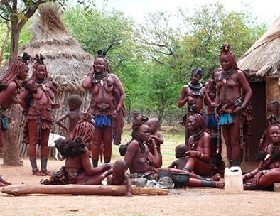 A group of Himba women and children