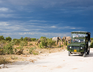 Game viewing vehicle in Etosha