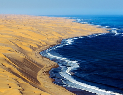 Aerial view of the Skeleton Coast - Fly Drive Tours