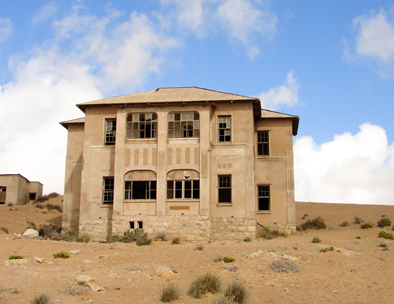 Kolmanskop was abandoned in the 1950s