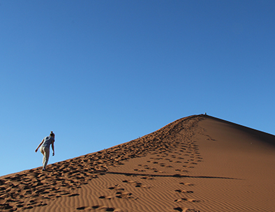 Climbing Dune 45 in Sossusvlei - Private Guided Tours