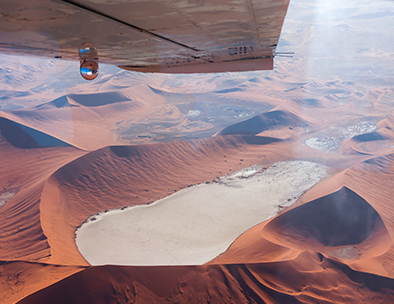namibia dunes from the sky