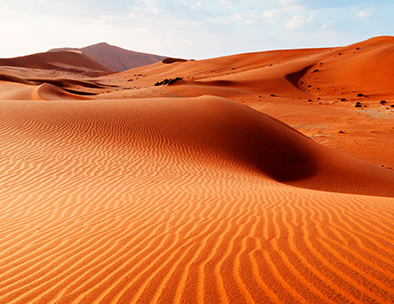 red dunes in namibia