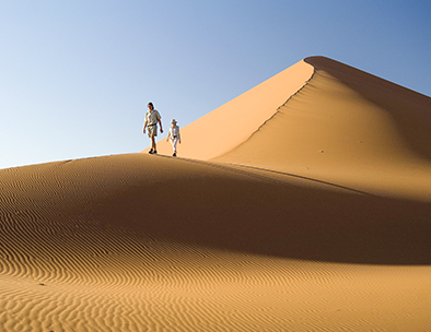 walking the desert dunes