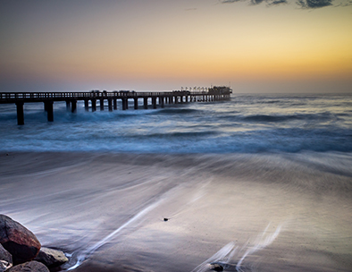 The famous pier in Swakopmund