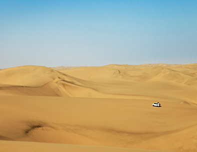 Exploring the dunes outside Swakopmund