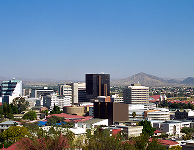 An aerial view of Windhoek
