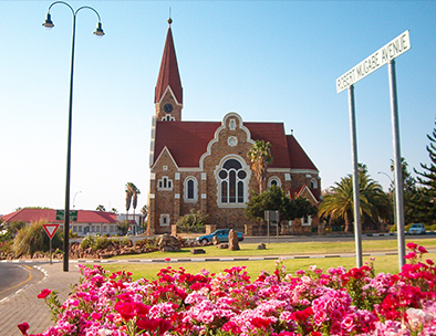 Famous Christuskirche in Windhoek